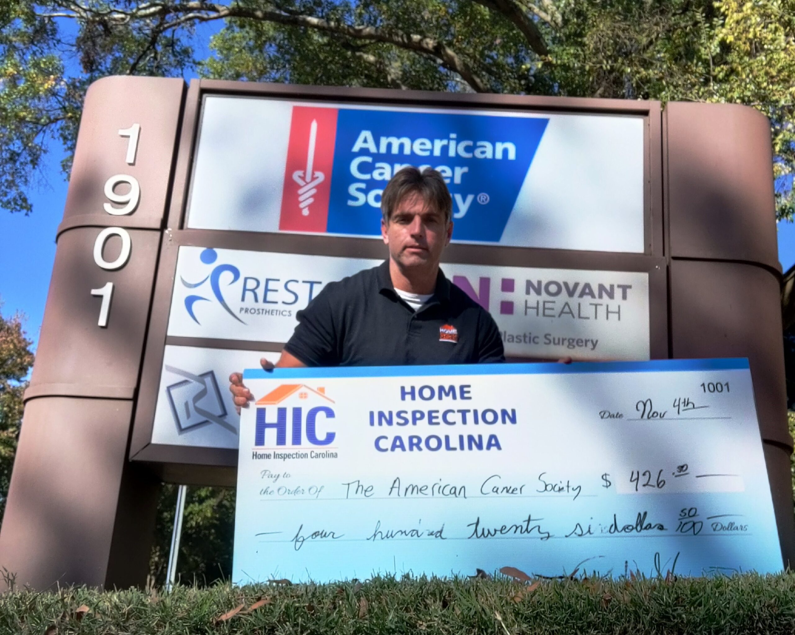 The Amercian Cancer Society Donations for HIC